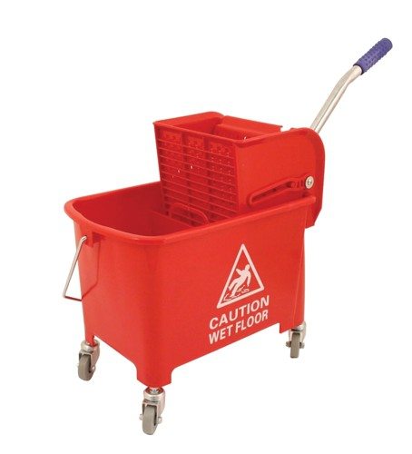 20ltr Mobl with Casters Mop Buck Red