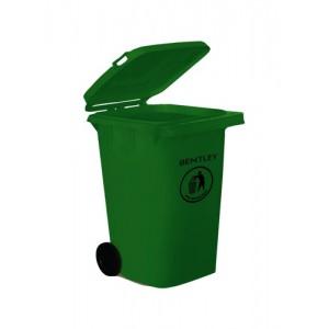 Wheelie Bin High Density Polythene with Rear Wheels 240 Litre Green
