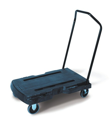 Rubbermaid Triple Trolley with Castors 2 Fixed 2 Swivel Capacity 181kg Platform 826x521mm Code 4401