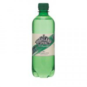 Highland Spring Water Sparkling in Plastic Bottle 500ml Ref A01790 [Pack 24]