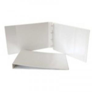 Elba Panorama Presentation Ring Binder PVC 4 D-Ring 30mm Capacity A3 White Ref 100082424 [Pack 2]