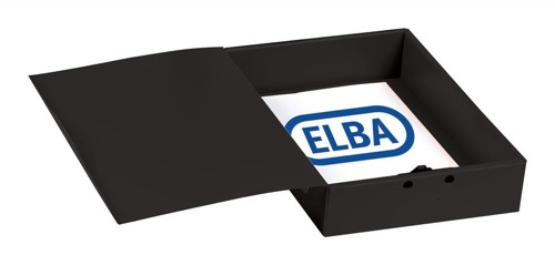 Elba Box File Opaque Polypropylene Rigid 70mm Spine Foolscap Black Ref 100080827 [Pack 5]