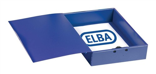 Elba Box File Opaque Polypropylene Rigid 70mm Spine Foolscap Blue Ref 100080828 [Pack 5]