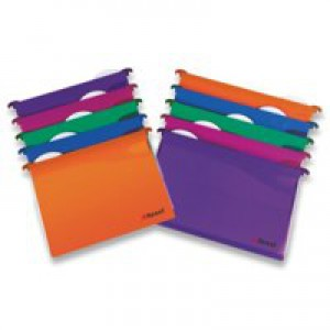 Twinlock CrystalFile Secure Suspension File Foolscap 30mm Assorted Pack of 10