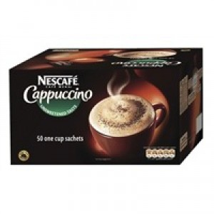 Nescafe Cappucino Instant Coffee Sachets One Cup Pack 50 Code A02701
