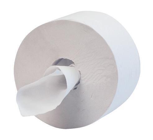Hostess 400 Toilet Tissue Maxi Jumbo 400m per Roll 1 Ply White Ref 8613 [Pack 12]