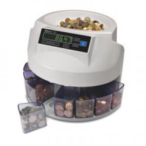 Safescan 1200 GBP Counter and Sorter Automatic 220 Coins/Min 500 Capacity AC 220-240V 5kg 113-0264