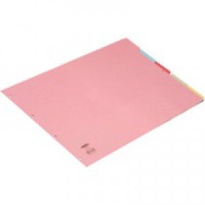 Concord Subject Dividers 230 Micron Oblong 5-Part A3 Ref 70399/J3