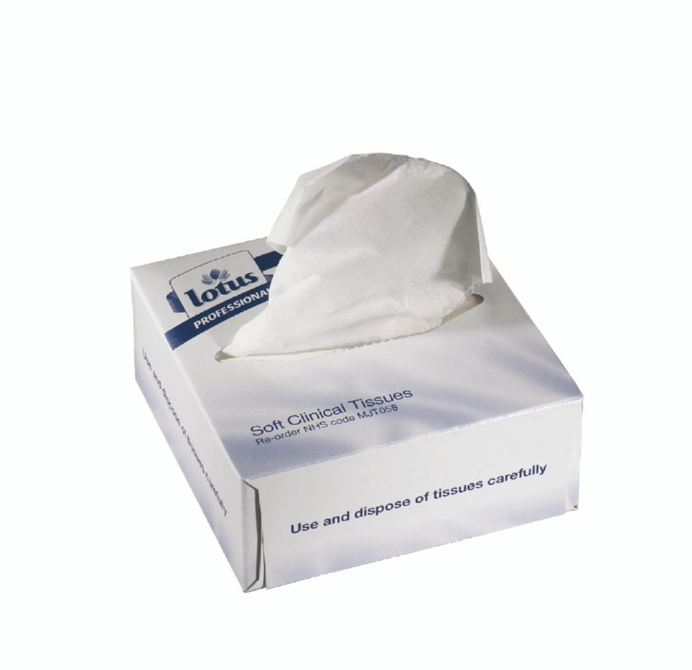 LP Clinical Facial Tissue White 2 ply 209x110mm 100 sheets