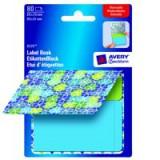 Avery Remb LabelPadBk Flwrs Blu&Grn 8320
