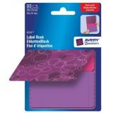 Avery Remb Label Pad Bk Purple&Pnk 8324