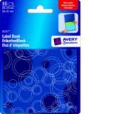 Avery Remb Label Pad Bk Blu&Grn 8325