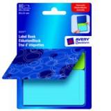 Avery NoteTab Bk 51x38 Wave Blu&Grn 8364