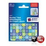 Avery NoteTab Bk 51x38 Flws Blu&Grn 8365