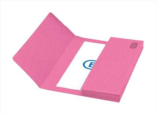 Elba Boston Document Wallet Pressboard 275gsm Capacity 32mm Foolscap Pink Ref 100090019 [Pack 25]
