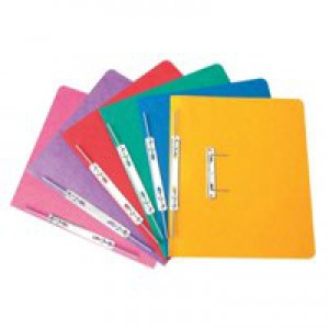 Elba Boston Spiral Transfer Spring File 300 micron for 32mm Foolscap Blue Ref 100090035 [Pack 25]
