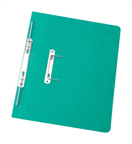 Elba Boston Spiral Transfer Spring File 300 micron for 32mm Foolscap Green Ref 100090036 [Pack 25]