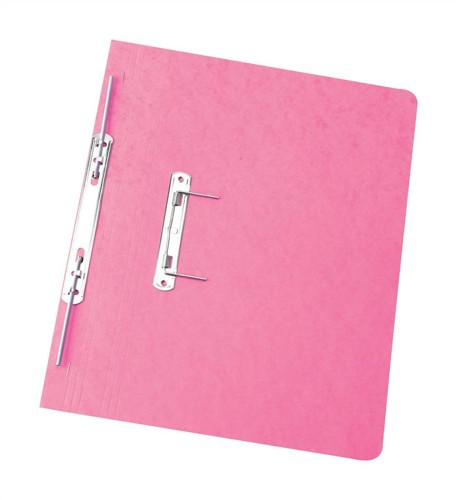 Elba Boston Spiral Transfer Spring File 300 micron for 32mm Foolscap Pink Ref 100090041 [Pack 25]