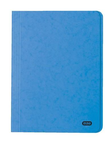 Elba Boston Square Cut Folder Pressboard 275gsm Capacity 32mm Foolscap Blue Ref 100090020 [Pack 50]