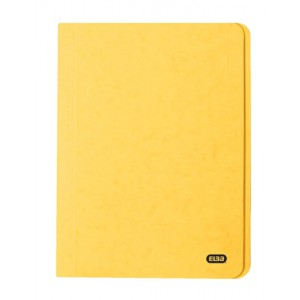 Elba Boston Square Cut Folder Pressboard 300 micron for 32mm Foolscap Yellow Ref 100090023 [Pack 50]