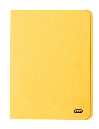 Elba Boston Square Cut Folder Pressboard 275gsm Capacity 32mm Foolscap Yellow Ref 100090023 [Pack 50]