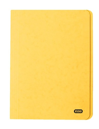 Elba Boston Square Cut Folder Pressboard 275gsm Capacity 32mm Foolscap Yellow Ref 100090023 [Pack 50]