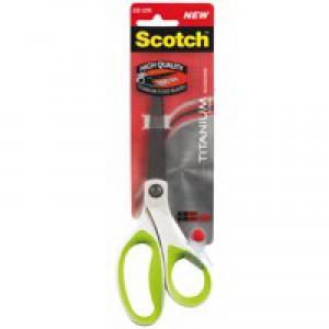 Scotch Titanium Scissors Ambidextrous Comfort Handles 200mm Green Ref 1458T-Green