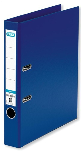 Elba Mini Lever Arch File PVC 50mm Spine A4 Blue Ref 100080907 [Pack 10]