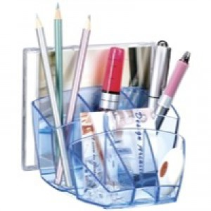 CEP Ice Blue Desk Tidy 580I Blue