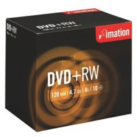 Imation DVD+RW Rewritable Disk Cased 4x Speed 120min 4.7GB Ref i19008 [Pack 10]