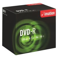 Imation DVD-R Recordable Disk Write-once Cased 16x Speed 120min 4.7GB Ref i21976 [Pack 10]