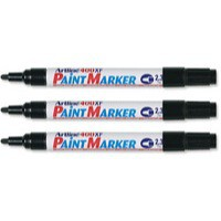 Artline 400 Paint Marker Medium Bullet Tip Black A4001