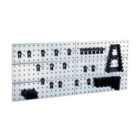 Image for Raaco 2 Tool Wall Panels and 28 Super Clips Ref 109642