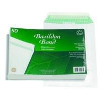 Basildon Bond Envelopes Recycled Pocket Peel and Seal 100gsm C5 White Ref B80277 [Pack 50]