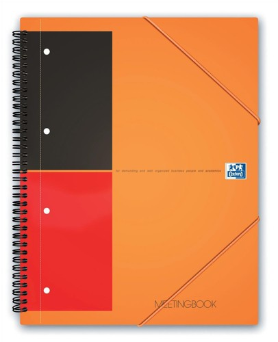 Oxford International Organiser Book 2 Wire 2 Margin Ruled 6 Dividers 160pp A4+ Ref 100100462 [Pack 5]