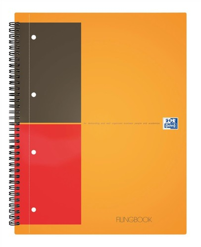 Oxford International ActiveBook 2 Wire Ruled with integral Pocket 160pp A5+ Ref 100104067 [Pack 5]