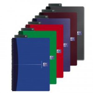 Oxford Office Notebook Wirebound Soft Cover Ruled 180ppp 90gsm A4 Assorted Ref 100105331 [Pack 5]