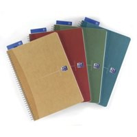 Oxford Office Notebook Wirebound Hard Cover Ruled 180pp 90gsm A4 Assorted Ref 100102099 [Pack 5]