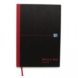 Black n Red Book Casebound Recycled 90gsm 192 Pages A5 Code 100080430