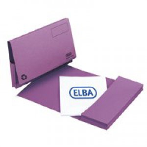 Elba Document Wallet Full Flap 310gsm Capacity 32mm Foolscap Mauve Ref 100090253 [Pack 50]