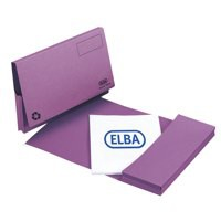 Elba Document Wallet Full Flap 285gsm Capacity 32mm Foolscap Mauve Ref 100090253 [Pack 50]