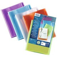 Elba Polyvision Display Book Polypropylene 20 Clear Pockets A4 Assorted Ref 100206086 [Pack 12]