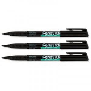 Pentel Permanent Marker Fine 0.8mm Black NMS50-A