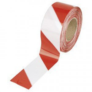 Barrier Tape in Dispenser Box 72mmx500m Red and White