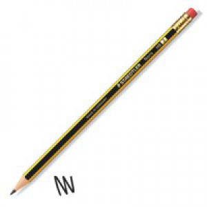Staedtler 120 Noris Pencil Cedar Wood with Eraser HB Code 122HBRT
