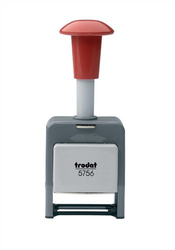 Trodat 5756/P Numberer Stamp Plastic Sequential Self-inking 8 Adjustments 5.5mm Digits Ref 86621