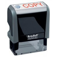 Trodat Office Printy Stamp Self-inking Copy 18x46mm Reinkable Red and Blue Ref 43241