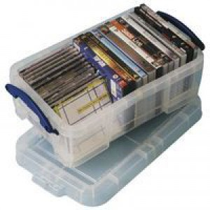 Really Useful Storage Box Plastic Lightweight Robust Stackable 9 Litre 255x395x155mm Clear Code 9C
