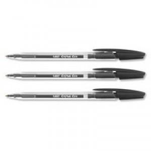 BIC Cristal Clic Ball Pen Retractable Medium Point 1.0mm Black Ref 850732 [Pack 20]