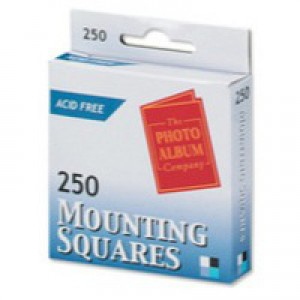 Photo Album Company Photo-mounting Squares Adhesive Ref MS250 [Pack 250]